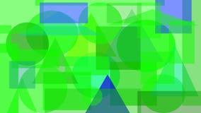 Cyfrowego abstrakcjonistyczny projekt zieleni i błękita kształty royalty ilustracja