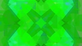 Cyfrowego abstrakcjonistyczny projekt zieleni kształty ilustracji