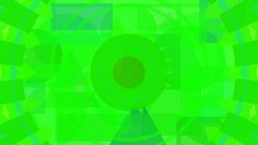 Cyfrowego abstrakcjonistyczny projekt zieleni kształty ilustracja wektor