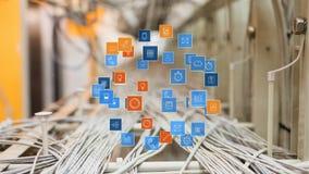 Cyfrowego app ikony royalty ilustracja