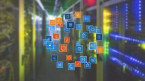 Cyfrowego app ikony ilustracja wektor
