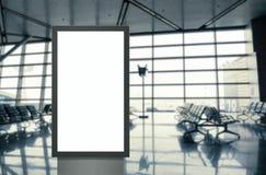 Cyfrowego bielu medialnego pustego ekranu nowo?ytny panel, signboard dla reklama projekta w airpost, galeria Mockup zdjęcie royalty free