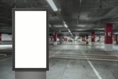 Cyfrowego bielu medialnego pustego ekranu nowo?ytny panel, signboard dla reklama projekta w airpost, galeria Mockup zdjęcia stock