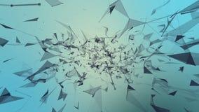 Cyfrowego chaos Abstrakcjonistyczny plexus tło dla różnych wydarzeń i projektów Bezszwowa pętla royalty ilustracja