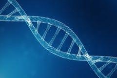 Cyfrowego DNA molekuła, struktura Pojęcie binarnego kodu ludzki genom DNA molekuła z zmodyfikowanymi genami ilustracja 3 d fotografia royalty free