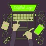 Cyfrowego działanie Ilustracja Wektor