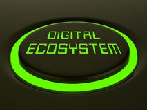 Cyfrowego Eco systemu dane interakci 3d rendering ilustracji