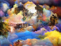 Cyfrowego Farby Tekstura Obrazy Royalty Free