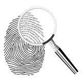 Cyfrowego fingerprinting Obraz Royalty Free
