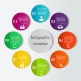 Cyfrowego infographics szablon Obrazy Stock