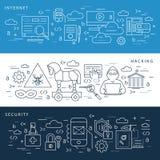 Cyfrowego interneta wektorowa błękitna ochrona royalty ilustracja
