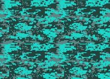 Cyfrowego kamuflażu wzór Lasu camo tekstura Kamuflaż p ilustracja wektor