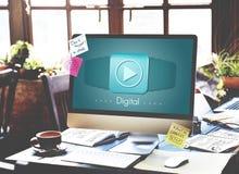 Cyfrowego komputeru innowaci technologii Elektroniczny pojęcie Obrazy Royalty Free