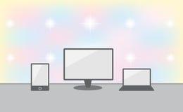 cyfrowego laptopu mobilna komputeru osobisty telefonu pastylka royalty ilustracja