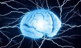 Cyfrowego ludzki mózg zdjęcie stock