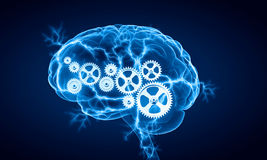 Cyfrowego ludzki mózg obrazy royalty free