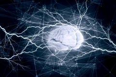 Cyfrowego ludzki mózg obraz royalty free