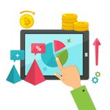 Cyfrowego marketing, online biznesowy pojęcie Fotografia Royalty Free