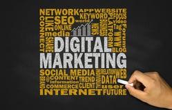 Cyfrowego marketingowy pojęcie zdjęcia stock