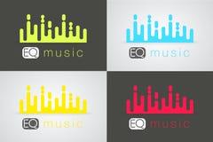 Cyfrowego muzyczny wyrównywacz również zwrócić corel ilustracji wektora Obraz Stock