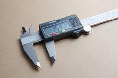 Cyfrowego noniuszu elektroniczny caliper Zdjęcie Stock