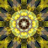 Cyfrowego obrazu mandala Abstrakcjonistyczny Kolorowy Kwiecisty tło royalty ilustracja