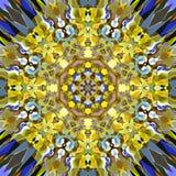 Cyfrowego obrazu mandala Abstrakcjonistyczny Kolorowy Kwiecisty tło ilustracja wektor