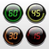Cyfrowego odliczanie zegar ilustracja wektor