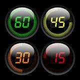 Cyfrowego odliczanie zegar ilustracji