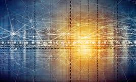 Cyfrowego podłączeniowy tło Fotografia Stock
