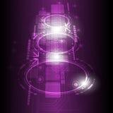 Cyfrowego przyszłościowy technologii tło Zdjęcia Royalty Free