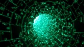 Cyfrowego sieć tv kablowej łączy tunelowego tło Obrazy Royalty Free