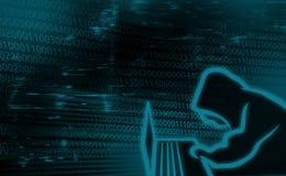 Cyfrowego tła pojęcie Internetowa ochrona, system siekający Fotografia Royalty Free