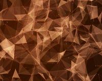 Cyfrowego tło z geometrycznymi cząsteczkami ilustracji