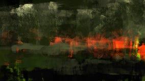 Cyfrowego tradycyjny obraz ciemny las z czerwoną abstrakcjonistyczną farba krajobrazu ilustracją royalty ilustracja