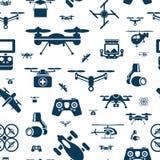 Cyfrowego trutnia przedmiotów wektorowy latający kolor ilustracja wektor