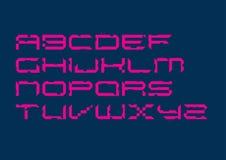 Cyfrowego Typeface Zarysowywający ilustracja wektor