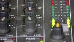 Cyfrowego VU metry w melanżeru stole zbiory
