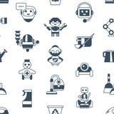 Cyfrowego wektoru czyścić i usługi domowa maszyna obraz stock