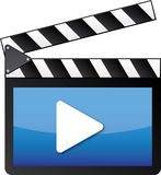 Cyfrowego wideo clapper Zdjęcia Stock