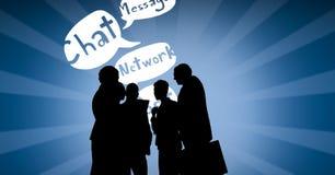 Cyfrowego złożony wizerunek sylwetek ludzie z mową gulgocze Zdjęcie Royalty Free