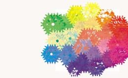 Cyfrowej abstrakcjonistycznej maszyny przekładni koła Cogwheel wzór royalty ilustracja