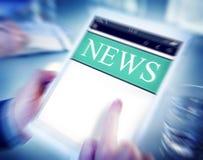 Cyfrowej aktualizaci wiadomości Online Raportowy pojęcie Obrazy Stock