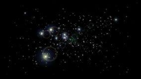 Cyfrowej animacja Starflight pętla ilustracja wektor