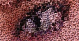Cyfrowej animacja surrealistyczni oczy ilustracja wektor