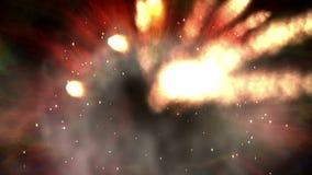 Cyfrowej animacja wieloskładnikowy wybuch ilustracji