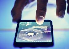 Cyfrowej biznesowa platforma na wiszącej ozdobie fotografia stock