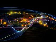 Cyfrowej Dynamiczna sieć ilustracja wektor