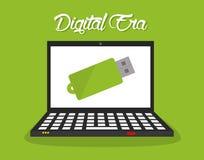 Cyfrowej ery technologia Fotografia Royalty Free