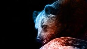 Cyfrowej fantazi rysunek niedźwiedź Zdjęcie Royalty Free